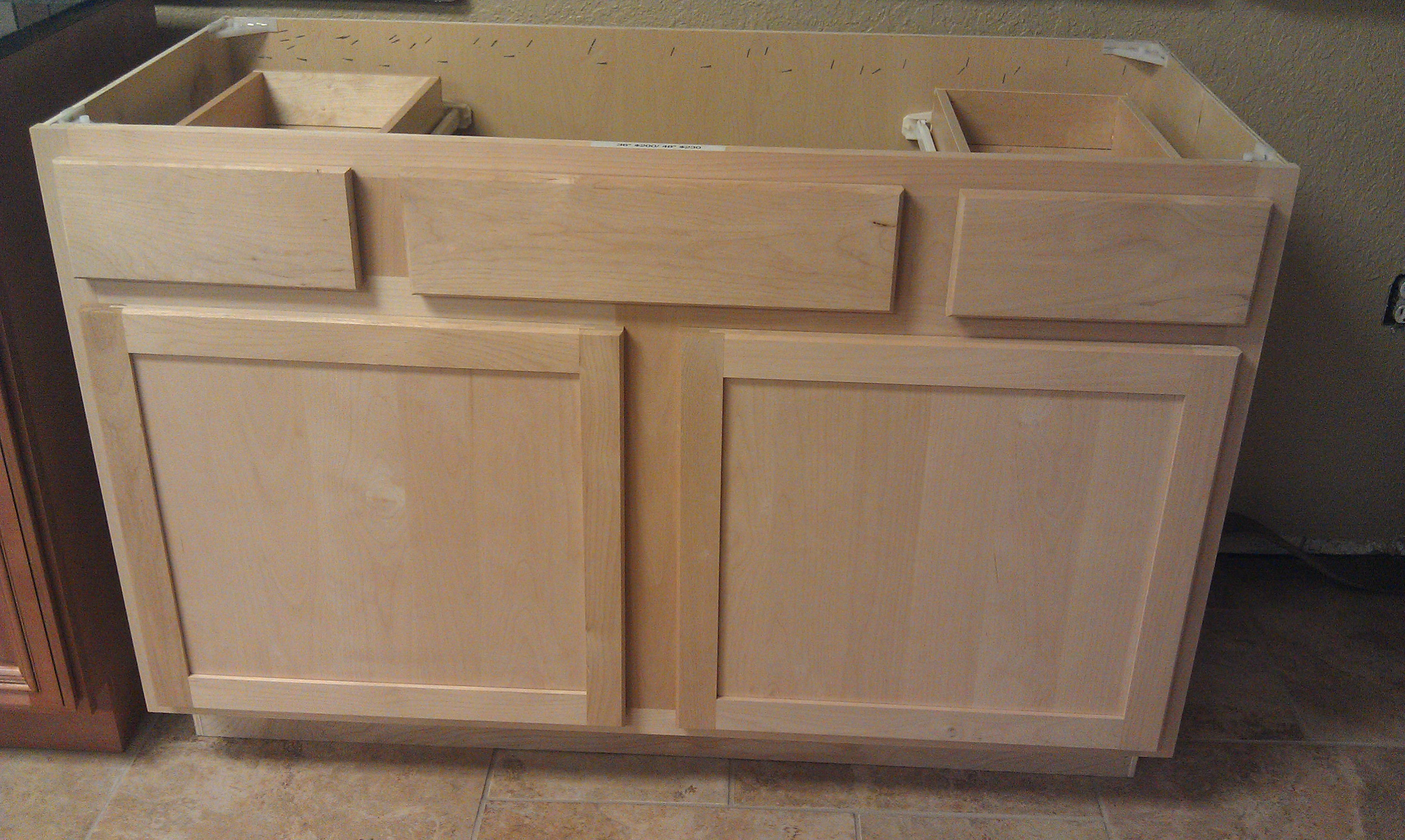 Unfinished Shaker Style All Wood Cabinets In Stock
