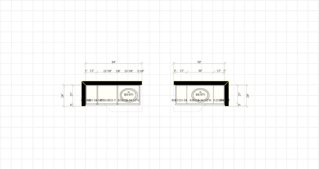 2D Bathroom Layout