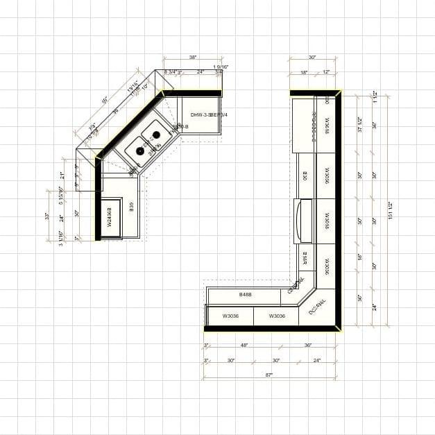 2D Kitchen Layout